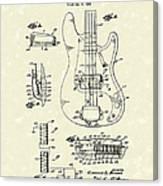 Fender Guitar 1961 Patent Art Canvas Print