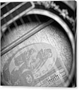 Fender Guitar Black And White 2 Canvas Print
