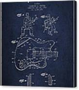 Fender Guitar Patent Drawing From 1960 Canvas Print