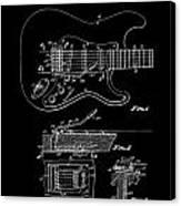 Fender Guitar Tremolo Patent Art 1956 Canvas Print