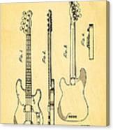 Fender Precision Bass Guitar Patent Art 1953 Canvas Print