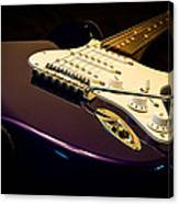 Fender Stratocaster In Blue Canvas Print