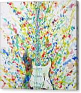Fender Stratocaster - Watercolor Portrait Canvas Print