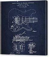 Fender Tremolo Device Patent Drawing From 1956 Canvas Print