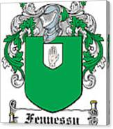 Fennessy Coat Of Arms Irish Canvas Print