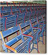 Fenway Blues Seats Canvas Print