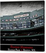 Fenway Memories - Poster 1 Canvas Print