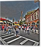 Fenway Park And Cask And Flagon Canvas Print