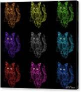 Feral Cat Pop Art - 9905 F M - Bb Canvas Print