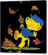 Ferald Dancing Amongst The Autumn Leaves Canvas Print