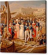Ferdinand Vii Disembarking In The Port Of Santa Maria, 19th Century Oil On Canvas Canvas Print
