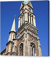 Ferencvaros Church Tower In Budapest Canvas Print