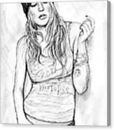 Fergie Art Drawing Sketch Portrait Canvas Print