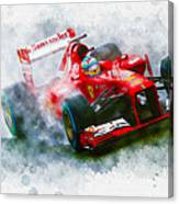 Fernando Alonso Of Spain Canvas Print
