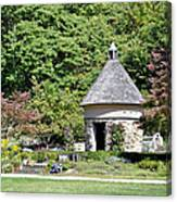 Fernwood Botanical Garden Stone Herb House Usa Canvas Print