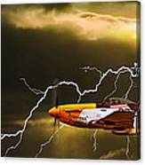 Ferocious Frankie In A Storm Canvas Print