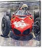 Ferrari 156 Sharknose Phil Hill Monaco 1961 Canvas Print