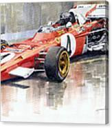1971 Ferrari 312 B2 1971 Monaco Gp F1 Jacky Ickx Canvas Print