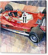 Ferrari 312 T2 Niki Lauda 1977 Monaco Gp Canvas Print