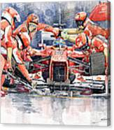 2012 Ferrari F 2012 Fernando Alonso Pit Stop Canvas Print