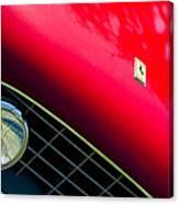 Ferrari Grille Emblem - Headlight Canvas Print