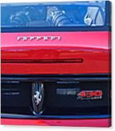 Ferrari Scuderia 430 Rear Emblems Canvas Print