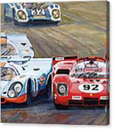Ferrari Vs Porsche 1970 Watkins Glen 6 Hours Canvas Print