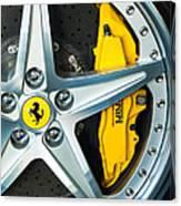 Ferrari Wheel 3 Canvas Print