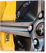 Ferrari Wheel - Brake Emblem Canvas Print