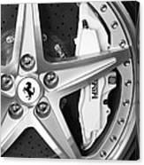 Ferrari Wheel Emblem Canvas Print