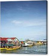 Ferries At Koh Rong Island Pier In Cambodiaferries At Koh Rong I Canvas Print