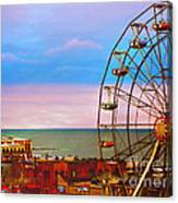 Ocean City New Jersey Ferris Wheel And Music Pier Canvas Print