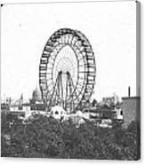 Ferris Wheel At Chicago Worlds Fair Columbian Exposition 1893 Canvas Print