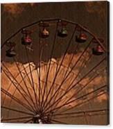 Ferris Wheel At Twilight Canvas Print