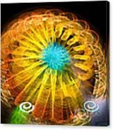 Ferris Wheel Flower Canvas Print