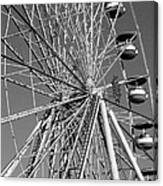 Ferris Wheel In Black And White Canvas Print