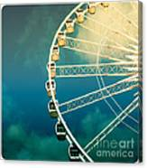 Ferris Wheel Old Photo Canvas Print