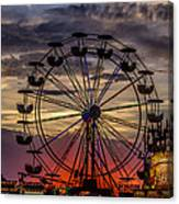 Ferris Wheel Sunset Canvas Print