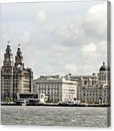 Ferry At Liverpool Canvas Print