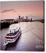 Ferry Boat At The Point In Pittsburgh Pa Canvas Print