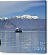 Ferry Boat On An Alpine Lake Canvas Print