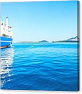 Ferry Boat On Port Canvas Print