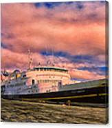 Ferry Dockside At Cold Bay Canvas Print