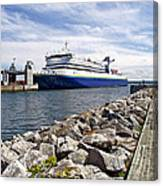 Ferry From North Sydney-ns To Argentia-nl Canvas Print