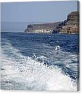 Ferry Hasta Puerto De Mogan Canvas Print