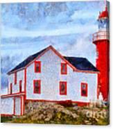 Ferryland Lighthouse In Newfoundland Canvas Print