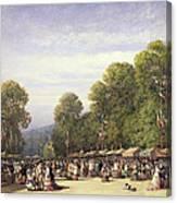 Festival At St. Cloud, C.1860 Canvas Print
