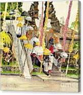 Festival Hindu Ceremony Canvas Print