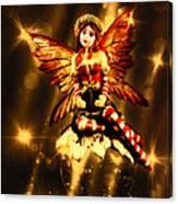 Festive Amber Fairy Canvas Print