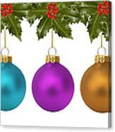 Festive Christmas Baubles Canvas Print